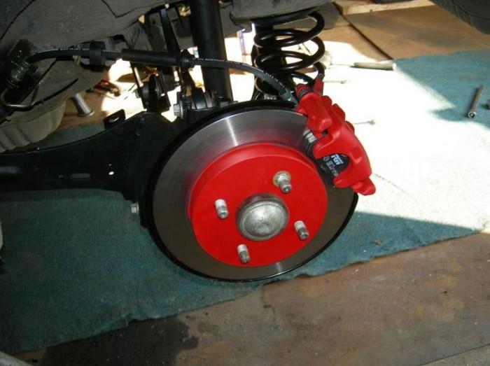 Задние дисковые тормоза на Приору 5