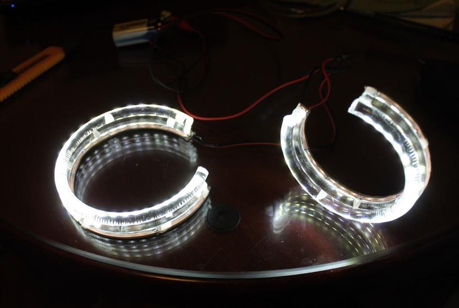 Светодиодные ангельские глазки из светодиодной ленты своими  870